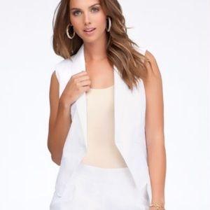 Bebe White Asymmetrical White Vest NWT